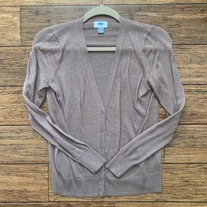5 for $25- Taupe Long Sleeve VNeck Button Cardigan